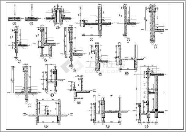 某地2层框架结构底商住宅楼建筑专业施工图