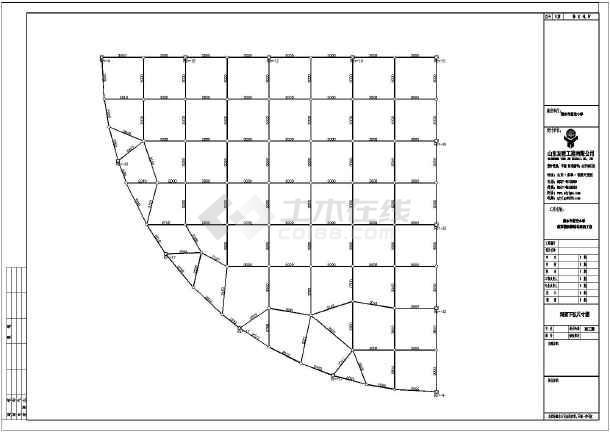 某地区小学图纸异形扇形农村球网架结构施工图8x12米建房屋顶螺栓图片