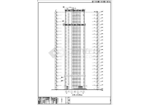 江西某二十四层框架结构办公楼建筑设计方案图