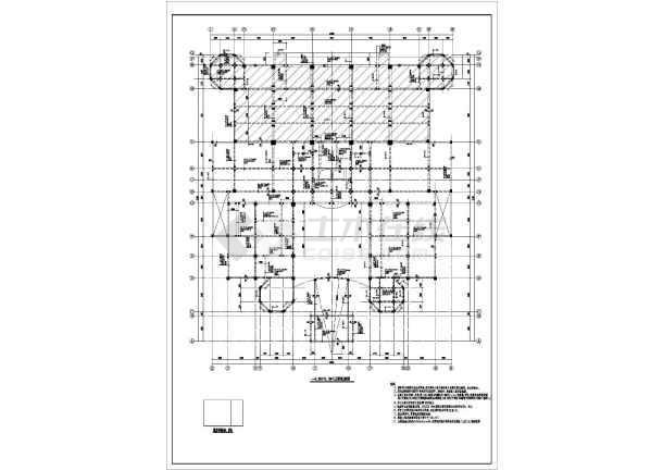 大庆市4层框架结构欧式风格会所建筑设计施工图