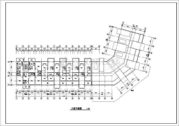 某地六层转角楼住宅楼建筑设计施工图