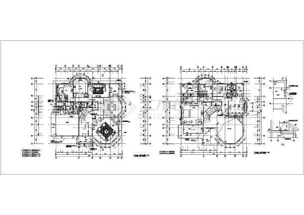 某钢结构别墅建筑设计图(长17.8米 宽17.6米)
