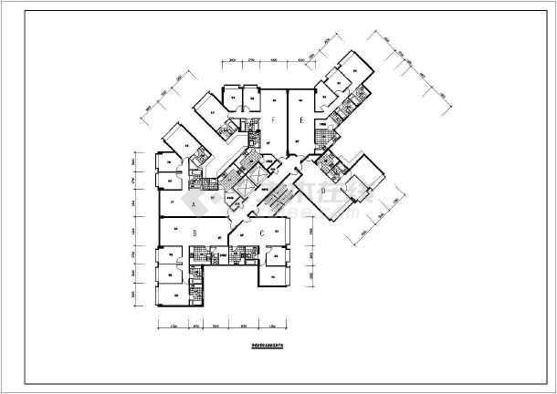 【香港】某帝景轩标准层建筑设计平面图图片
