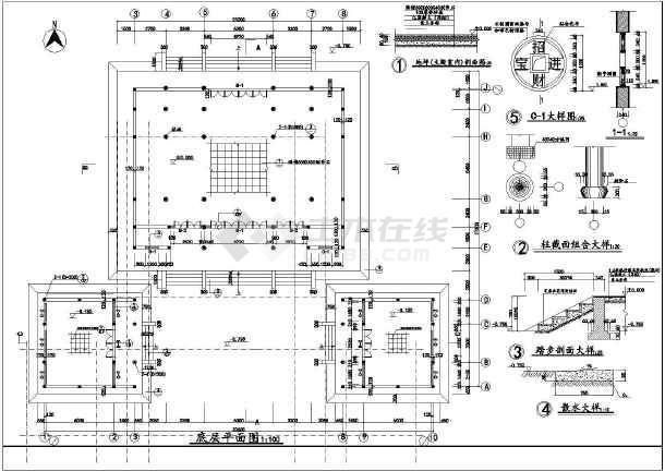 古代土地庙 财神殿建筑cad施工图,图纸设计特别细致,整体大气厚重