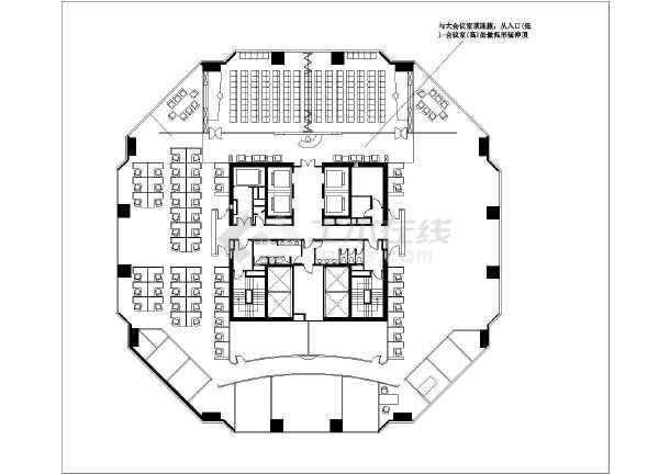 平面设计大参考_某地超大商务办公室室内CAD平面图设计图纸_cad图纸下载-土木在线