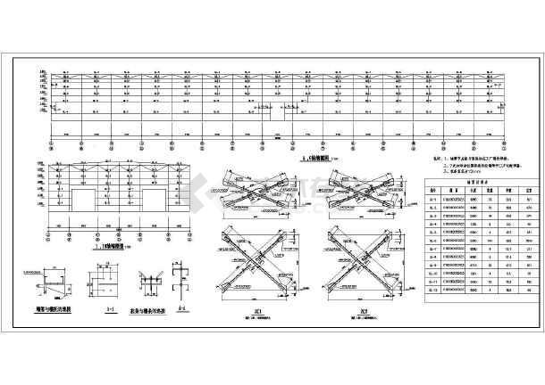 某地单层门式钢架结构厂房结构施工图