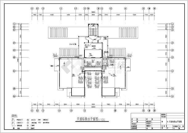 某地十五层住宅楼建筑给排水设计图