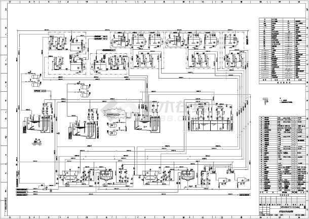某v工艺工艺化学废水处理宋体流程图_cadcad号电厂设置四图片