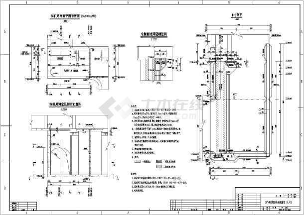 某水电站工程尾水半径室v工程全套闸门_cad图cad软件长出量弧图纸如何图片