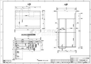 【工程图纸】某水电站全套尾水闸门室v工程图形cad二维拉长全套基本画法及命令图片