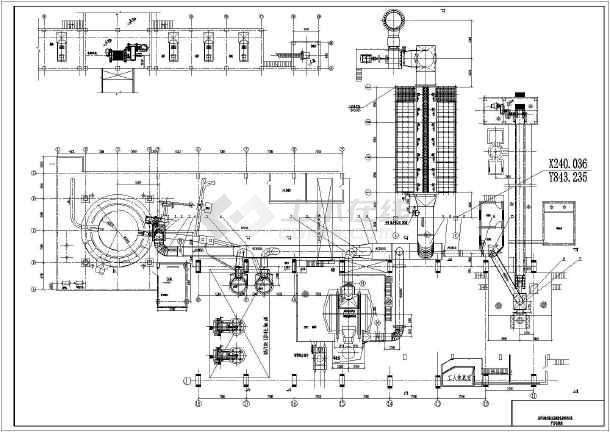 本图纸是某工程高炉出铁场除尘系统设备及管道安装图,图纸内容:平面