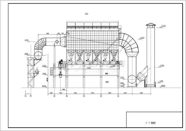 某工程高炉出铁场除尘系统设备及管道安装图