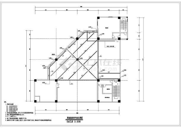 某框架结构项目局部增设钢屋架结构施工图