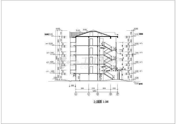 某地区某五层框架结构住宅楼设计施工图