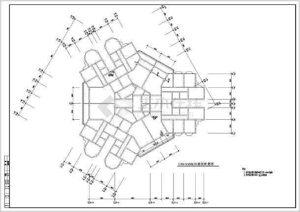 多套高层剪力墙建筑结构设计施工图