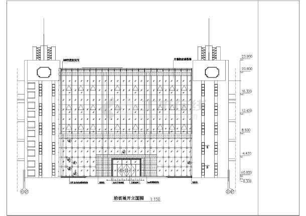 该工程为某厂区车间办公楼玻璃幕墙设计施工图,内容包含设计说明