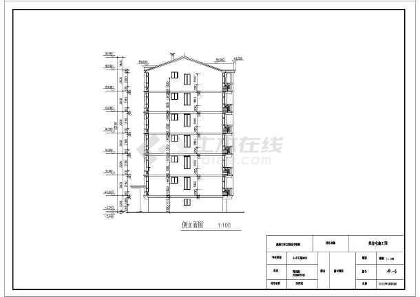 某地6层砖混结构住宅设计图(毕业设计)