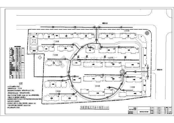 某图纸室外给排水、消防、v图纸管道工程施工图6米建筑8小区×图片