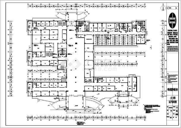 鸡泽县现代化医院室内装修设计施工图纸图片