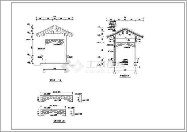 某中学一层框架结构连廊