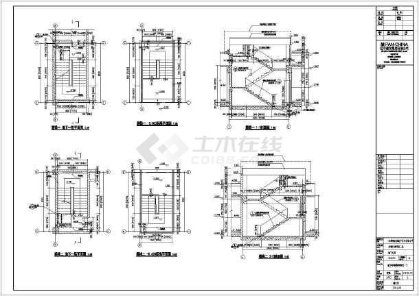 无锡某住宅小区单层地下车库建筑设计施工图