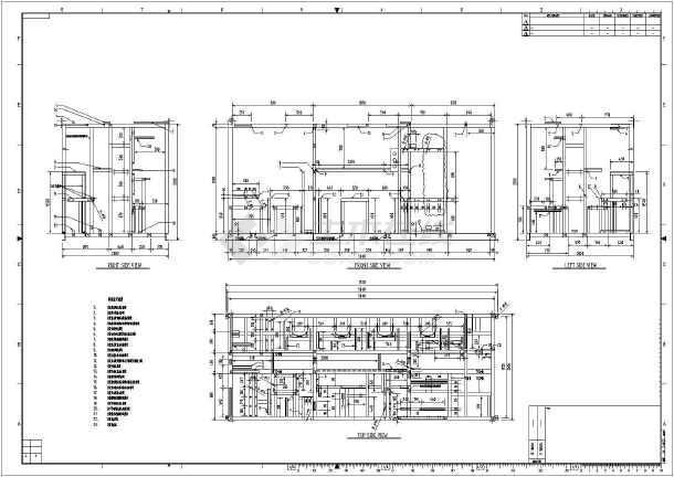 图纸标注一体化处理纸板平面图(含英文杀菌)_袖设备制作剑终端图片