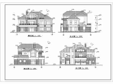 某新农村三层别墅建筑设计施工图纸