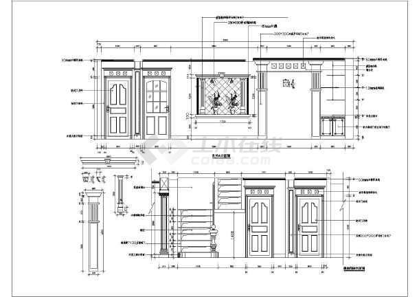 嘉兴欧式室内设计装修立面图.