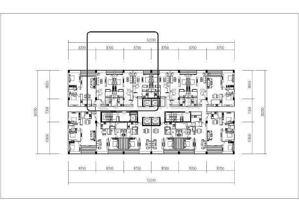 多种类型酒店与公寓户型平面布置图
