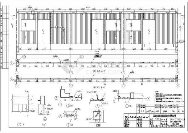 单层钢结构箱体结构活动房结构施工图