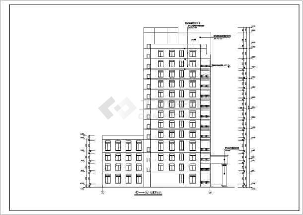 某市13层武警医院住院大楼建筑方案设计图图片