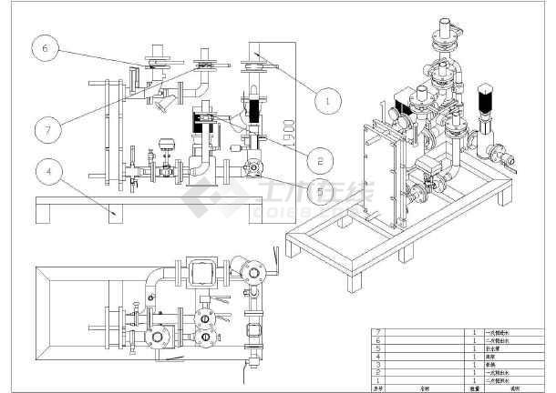 某板式组合式换热机组设计大样图纸