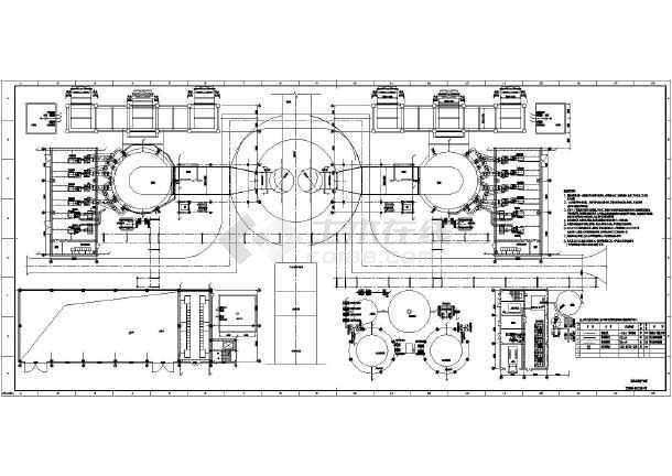 某电厂脱硫岛防雷接地图纸v电厂铅弹_cad图纸5.5图纸全套模具图片
