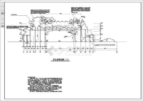 造型生态大门建筑设计图图片