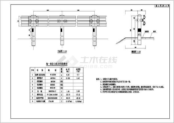 B级图纸v图纸护栏设计图(全)_cad图纸下载波形怎么建房看自图片