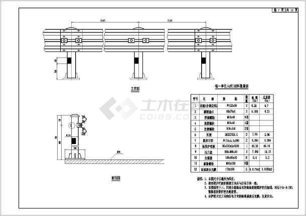 b级波形防撞护栏设计图(全)