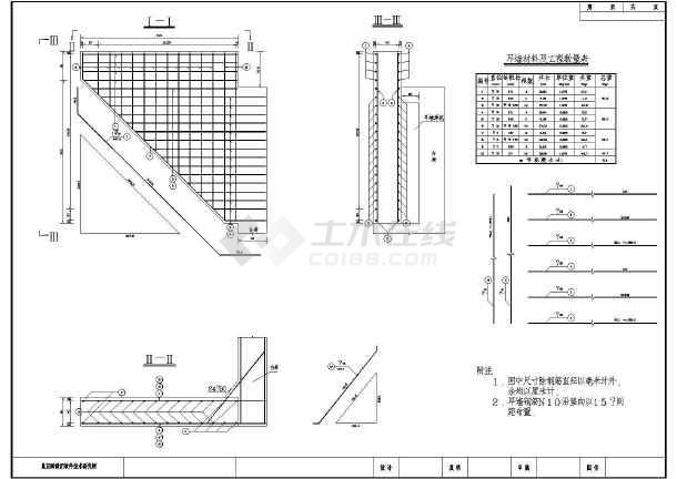 某市5m高轻型桥台工程设计图纸(共6张)
