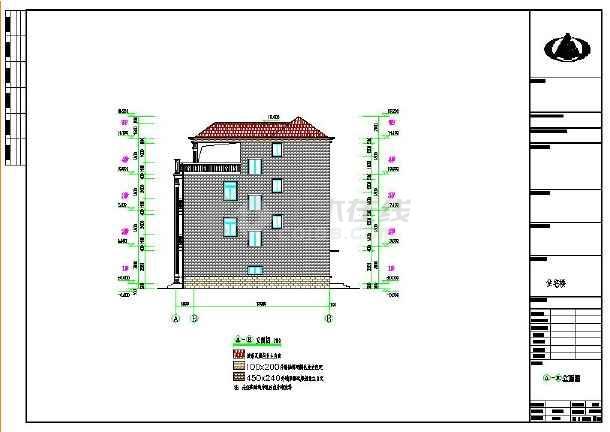 露台商住两用四层自建房屋建筑设计图,内容包括:一层平面图,二层平面