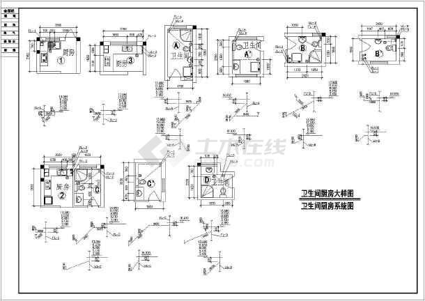 某小区住宅楼全套给排水设计施工详图-图3