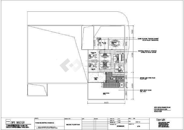 保时捷汽车展厅全套装修设计施工图