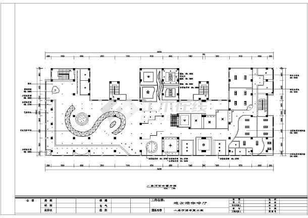 星巴克cad平面图_江苏某咖啡厅装室内装修设计方案图纸(含消防空调)_cad图纸 ...