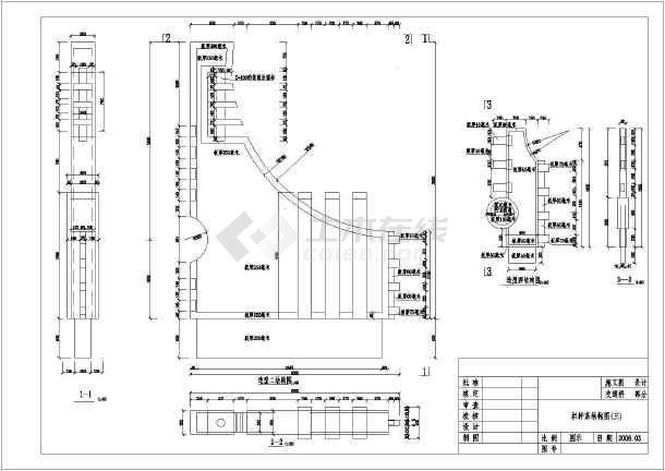 桥梁工程花岗岩栏杆细部结构布置详图