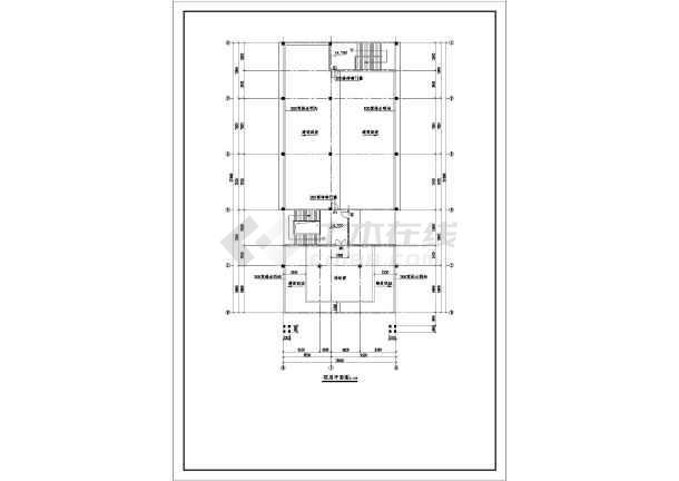 某办公大楼钢构屋顶立体图及结构施工图