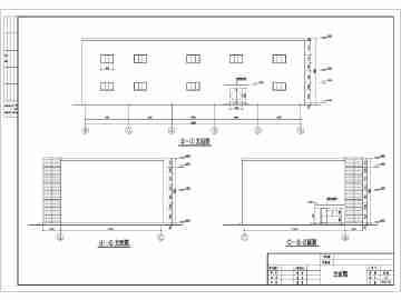 某二层钢框架展厅结构设计施工图纸