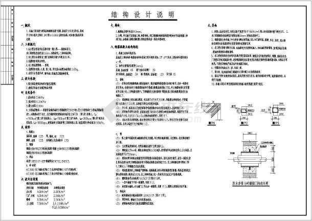 某地二层换热站建筑结构设计施工图
