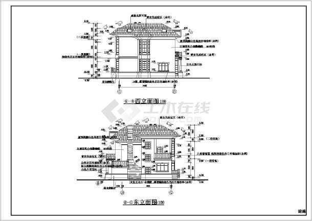 2-2剖面图,楼梯大样图,卫生间大样图,入口正立面图,入口侧立面图,门窗
