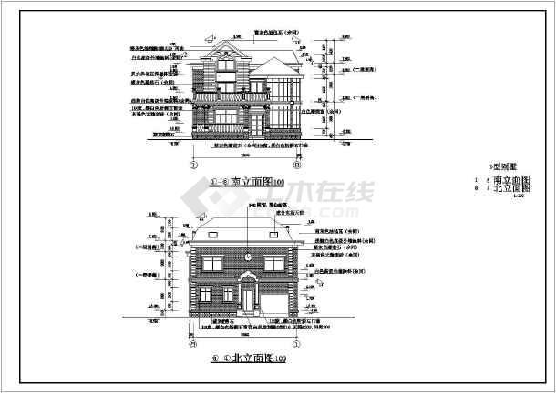 三层砖混结构欧式别墅建筑设计施工图,包括:建筑设计说明,一层平面图