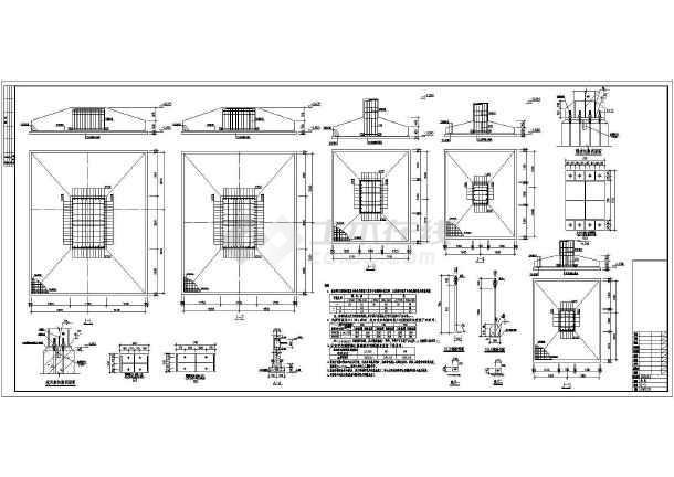 图纸 建筑结构图 钢结构图纸 门式刚架 某地2连跨格构柱厂房结构施工