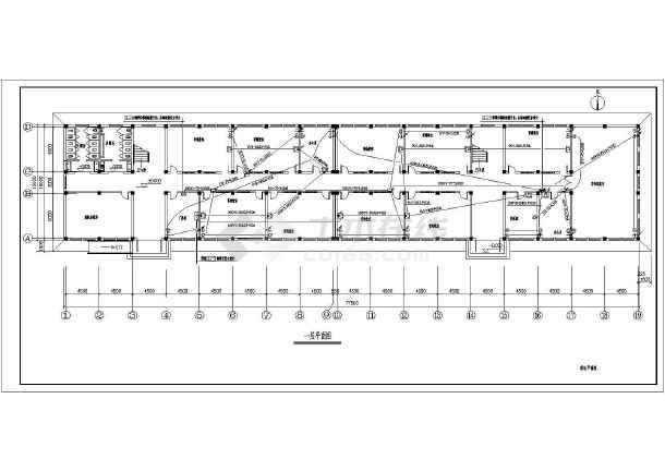 某中学一栋四层的教学楼电气设计施工图_cad图纸下载图片