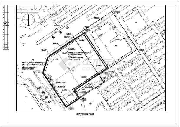 湖南 株洲市 开发区/湖南株洲市某商业开发区基坑支护工程图纸/图1